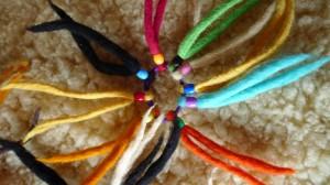 élastique coloré 9 brins multicolores